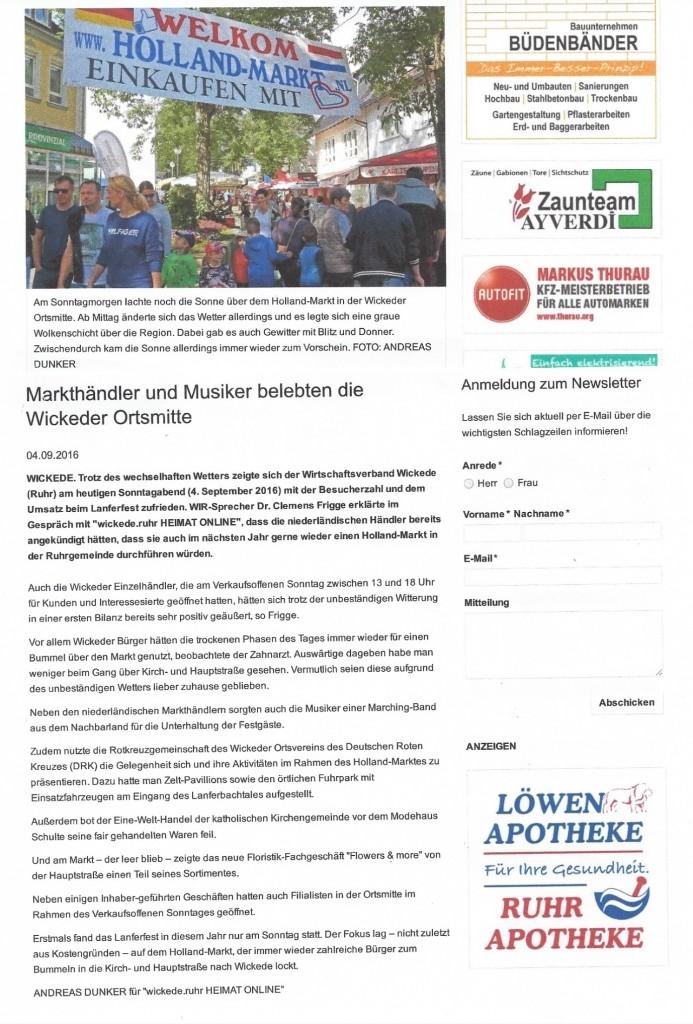 Wickede Am Ruhr Holland Markt Nl